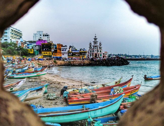 Photography Freshness Rural Scene Incredible India Indiapictures RuralIndia Kanyakumari, Tamil Nadu Nautical Vessel Transportation Water Sky City Outdoors Building Exterior One Person People Cityscape Day