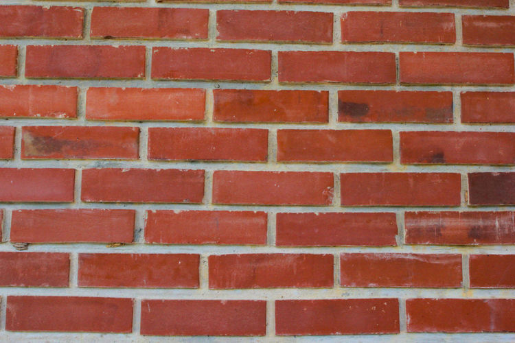 Red Brick Wall Brick Wall - Building Feature Wall Backgrounds Full Frame Architecture Built Structure Pattern No People Textured  Day Building Exterior Outdoors Close-up Repetition Brown Design Shape