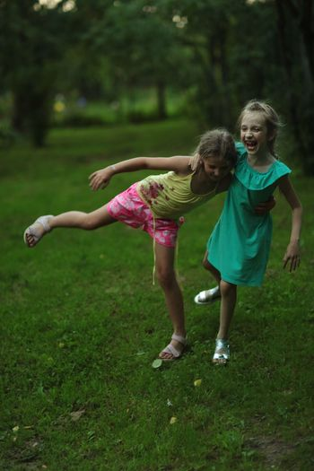 When life is a party Child Childhood Full Length Girls Females Two People The Portraitist - 2018 EyeEm Awards Sister Nature Positive Emotion Family Happiness Day Fun