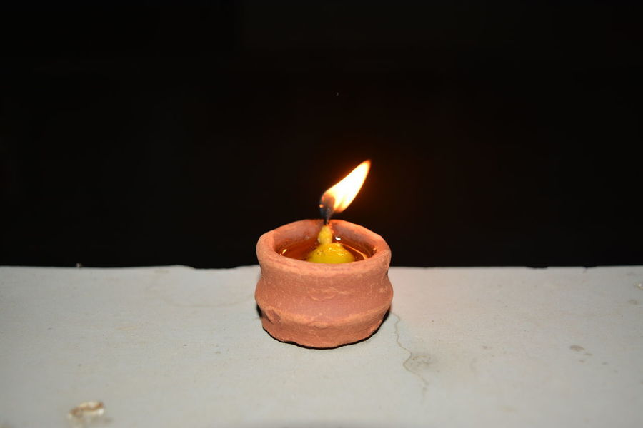 Diwali Flame Black Background Close-up Diwali Lights Diwalicelebrations Diya Diya - Oil Lamp Flame Heat - Temperature Lamp Lamps Oil Lamp
