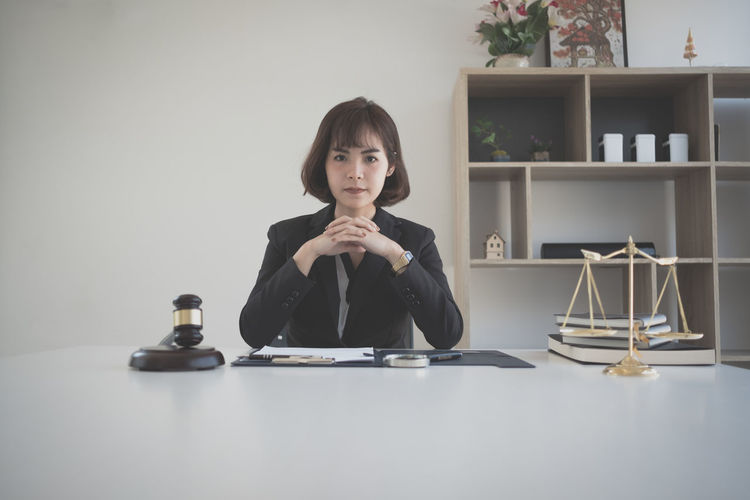 Portrait of lawyer working at office