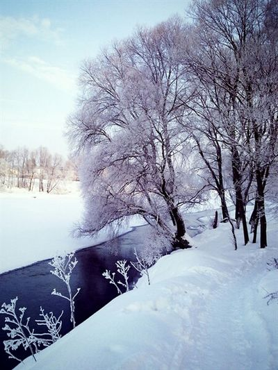 Москварека зима Winter Snow Iceriver