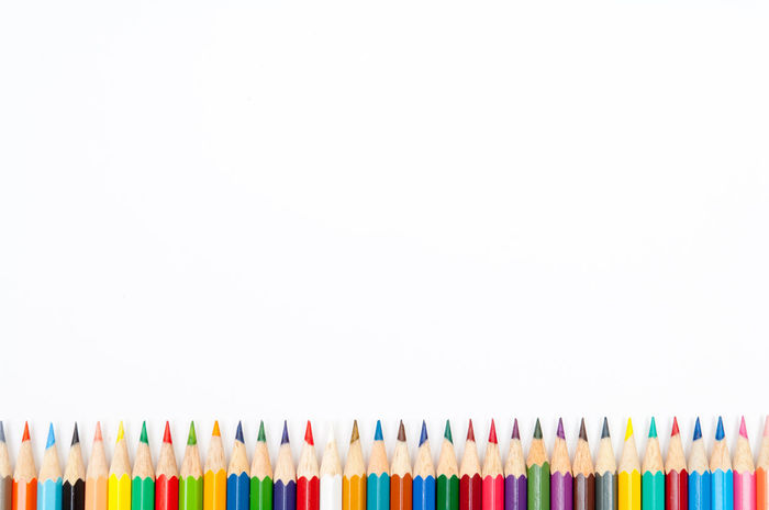Color pencils isolated on white background Background Black Blue Brown Color Color Palette Colorful Creativity Draw Drawing Education Equipment Gray Green Isolated Orange Pencil Pencils Red School School Flow White Wood Wooden Yellow