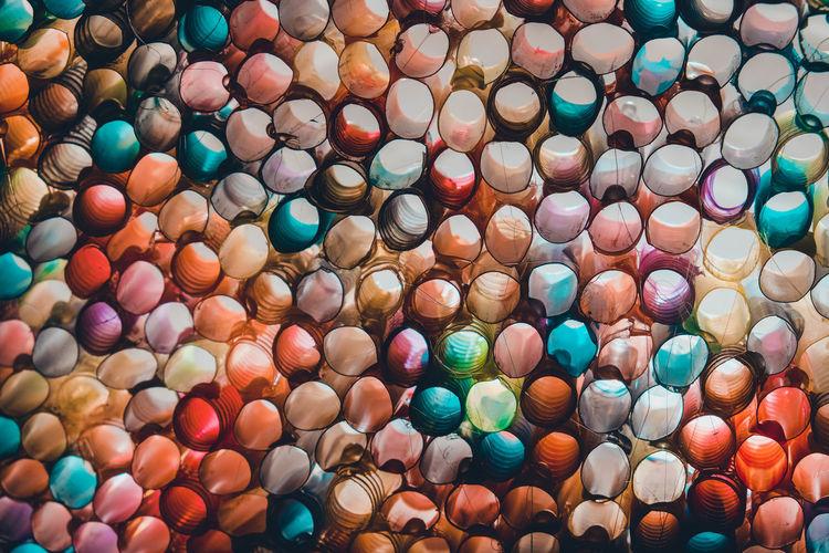 Full frame shot of multi colored for sale in market