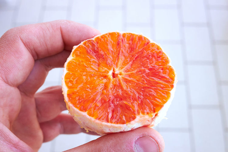 Hand with a sicilian orange Sicily, Italy Food Food And Drink Fruit Hand Human Body Part Human Hand Orange - Fruit Orange Color Sicilian Food