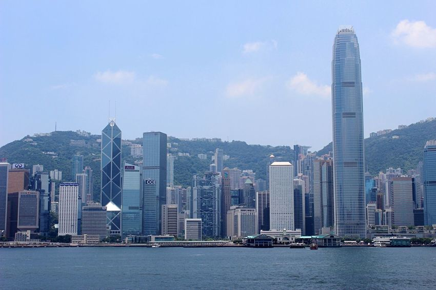 City Skyscraper Architecture Building Exterior Urban Skyline Cityscape Modern Travel Destinations Tower Built Structure Outdoors Financial District  No People Waterfront Sky Day Downtown District HongKong Hong Kong Hk Buildings