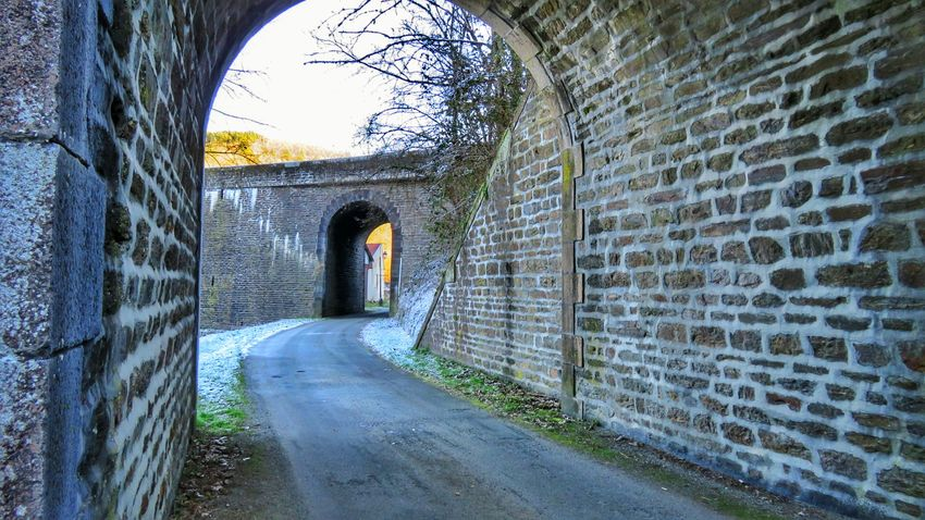 Arch Tunnel The Way Forward Built Structure Architecture Arched Archway No People Day Bridges Beautiful Bridge Canon Canonphotography Tranquility Winter Auvergne Allier Outdoors Beautifulview