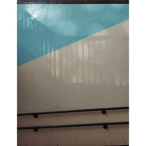 Full frame shot of swimming pool against wall