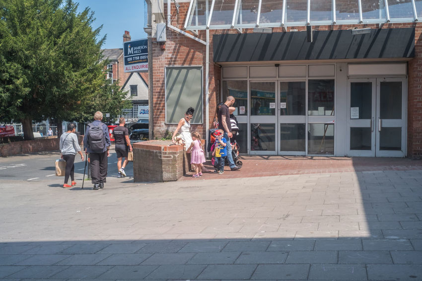 Colchester town centre. Essex Architecture Building Exterior Built Structure City Colchester Day Lifestyles Men Outdoors People Real People Tree Women