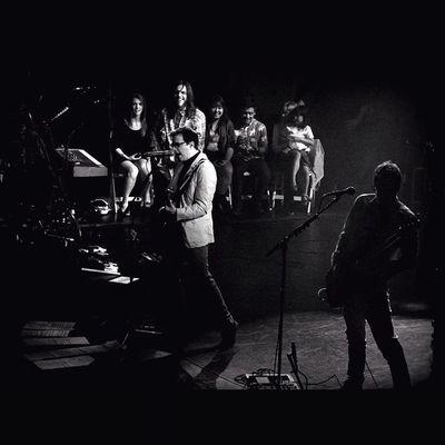 Rivers Cuomo, Scott Shriner and Brian Bell from Weezer. Weezer Cruise 2014. Show A. WEEZER Weezercruise Bahamas Sony Sonyhx50 HX50 Live Music Gig Buddyholly Blackandwhite Pointandshoot Zoom Monikasmithphotography