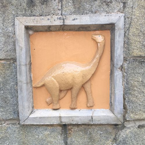 Dinosaur Playground - Wall Motifs Public Playground Dinosaur Animal Animal Representation Animal Themes Architecture Art And Craft Built Structure Creativity Day No People One Animal Outdoors Representation Wall Wall - Building Feature