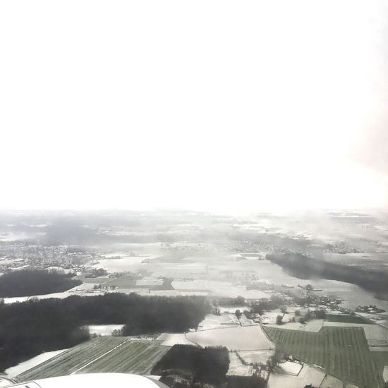 View From Above View Airplane Fog Scenics Beauty In Nature Nature Landscape Tranquil Scene Tranquility No People Agriculture Field Outdoors Rural Scene Patchwork Landscape Sky Day