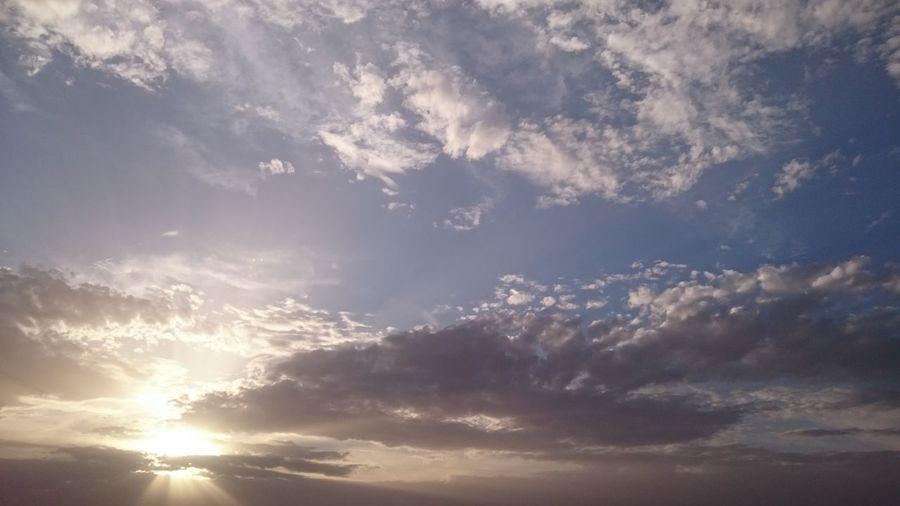 Sky And Clouds Sun Light Sun ☀ Lovely Day Lovely Weather Relaxing In The Sun Desert Sky Desert Rays Of Light Rays Of The Sun Algeria Adrar