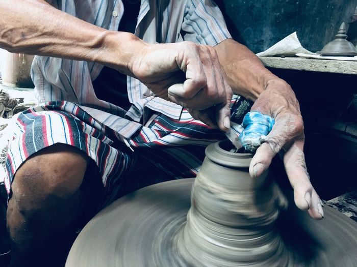 Pottery Thai One Person Human Body Part Craft Working Making Workshop Finger