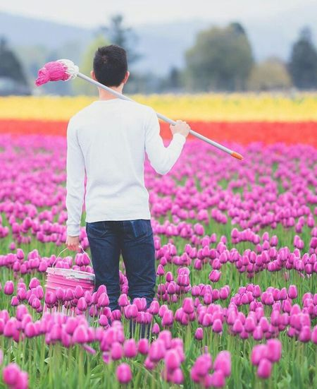 Flower Rear View Nature Purple Pink Color Beauty In Nature Field Plant Growth Business Finance And Industry Freshness Outdoors Rural Scene Day Summer Agriculture Adult Adults Only Fragility Flower Head Modern Business Person Shirt And Tie Well-dressed Suit