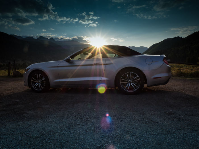 #Mustang #fordmustang Car Day Lens Flare Nature No People Outdoors Road Sky Sun Sunset Transportation