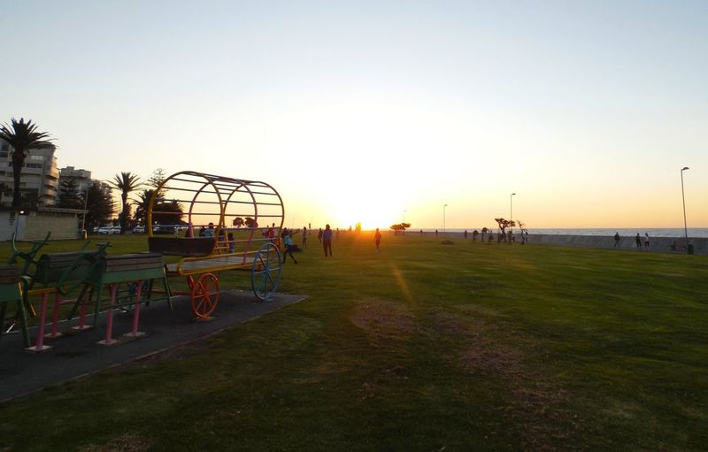 Cape Town Cape Town, South Africa Capetown Rollercoaster Sky Amusement Park Sunset Outdoors Day No People Grass Nature Colour Your Horizn Clear Sky Sunlight Summer Exploratorium Visual Creativity The Street Photographer - 2018 EyeEm Awards Summer In The City