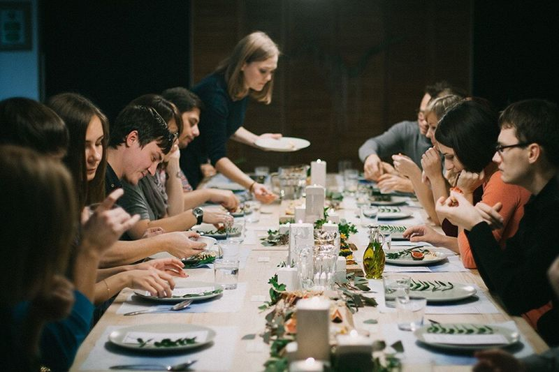 Enjoy The New Normal Celebration People Dinner Food Food And Drink Party Birthday Thanksgiving Family Friends Eat Eating Beverage Woman Girl Man EyeEm Diversity