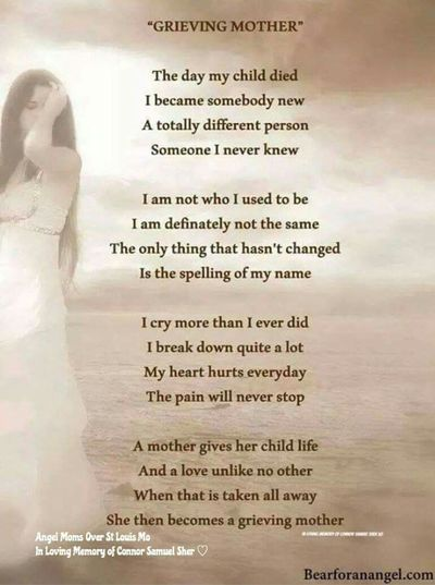 Losing a child does change you forever. It changed me when I lost my 5 yr old son Jamie Lee
