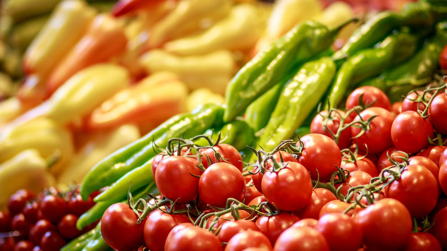 Close-up of vegetables in market
