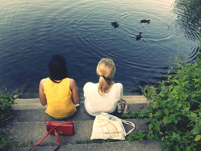 Hanging Out With Friends At The Lake The Moment - 2015 EyeEm Awards