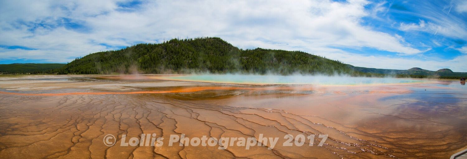 Grand Prismatic Spring in Yellowstone. Grand Prismatic Spring Yellowstone National Park Yellowstonenationalpark Hot Spring