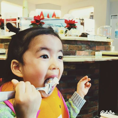 Eating Yummy My Daughter Happy