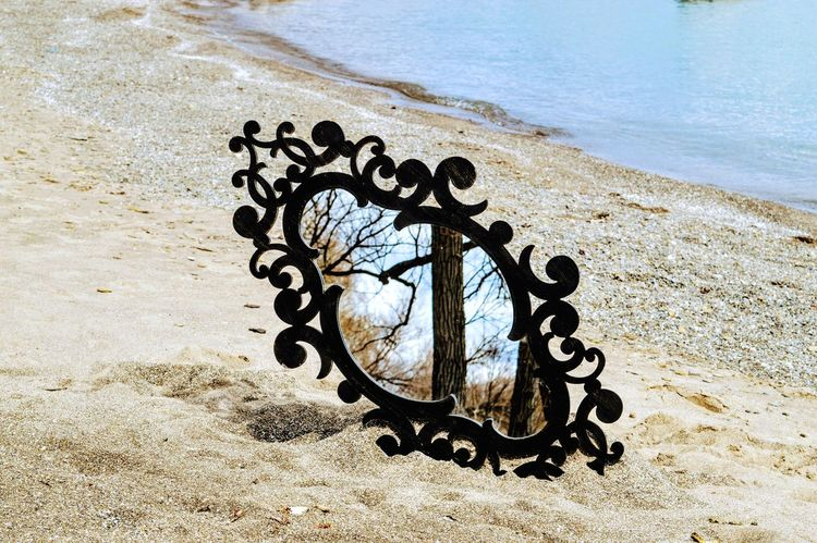 Findings Objects Beach Sand The Secret Spaces Reflections Mirror Art Is Everywhere BYOPaper!