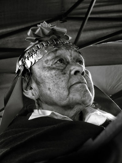 Papay Carmen Mapuche Chile portrait Chaman Retrato