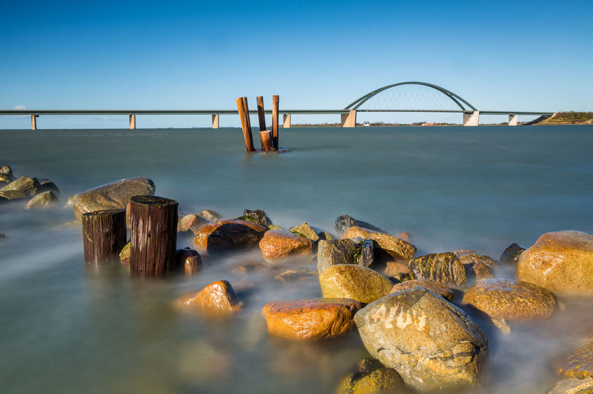 Longexposure, 50sec. Be. Ready. Fehmarnsundbrücke Lzb Ostsee Architecture Beauty In Nature Bridge - Man Made Structure Built Structure Clear Sky Day Fehmarn Fehmarnsund Horizon Over Water Langzeitbelichtung Long Exposure Nature No People Outdoors Scenics Sea Sky Water
