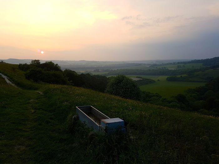 Old Winchester Hill Hampshire  Summerevening Watertrough Sunset Showcase June Eyeemphoto