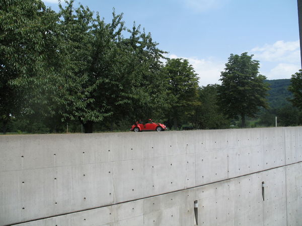 Driving on the rim of the wall? Matchbox car? Better Look Twice Capture The Moment Captured Moment Car Concrete Concrete Wall Optical Illusions Wall