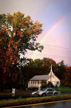 Rainbow Rainbow In The Sky After The Rain Afternoon Rain Rainbow Colors Over The Rainbow Iphonephotography IPhone Photography IPhone Photos Iphonegraphy