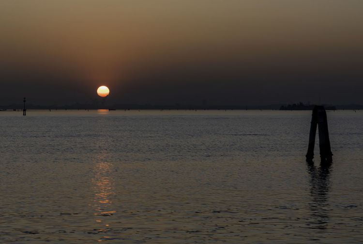 Sunset towards