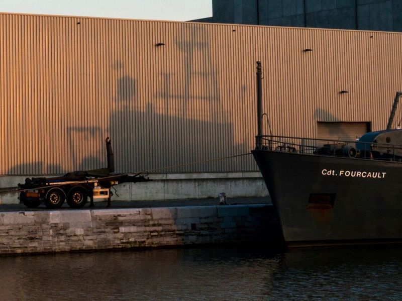 Shadowy Cadet Belgium Antwerp Antwerpen Sunset Transportation Freight Transportation Cargo Container Nautical Vessel Commercial Dock Mode Of Transport Sea Shipping  Industry Harbor Outdoors Architecture
