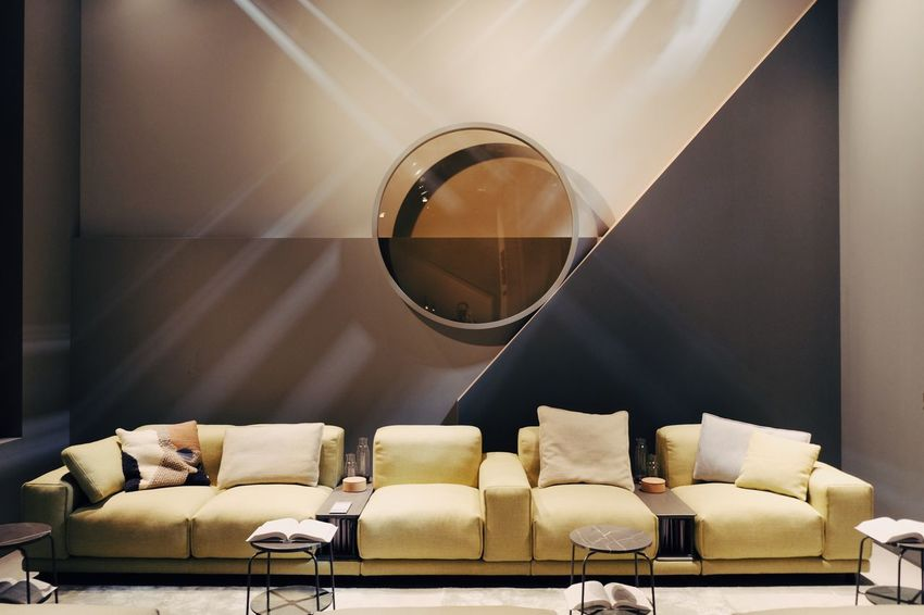 my stand design for rolf benz at the salone del mobile 2018 Architecture Architecture_collection Geometric Shapes Coffee Table Cushion Design Furniture Geometric Abstraction Geometric Shape Home Home Showcase Interior Interior Design Ligth And Shadow Living Room Pillow Salonedelmobile2018 Sofa