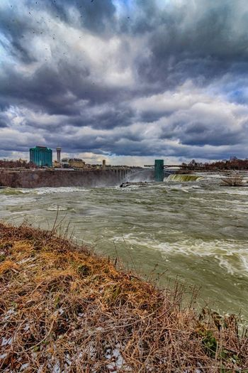 View from Luna Island at the American Falls State Park (Goat Island) NY, USA Clouds And Sky Cold Weather Day Falls HDR Hdr_Collection Misty Nature Nature Nature Photography Niagara Falls NY Niagara River No People Outdoors Rapids River Rushing Water Water