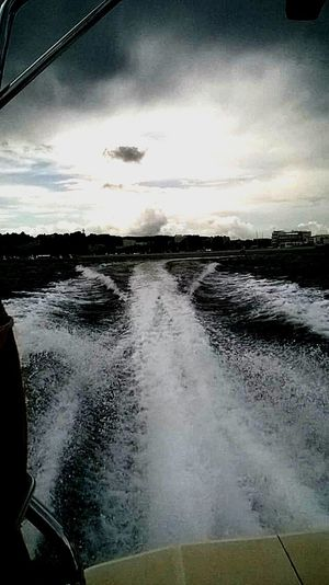 How's The Weather Today? Sea Motorboat Wind Weather Sky Clouds