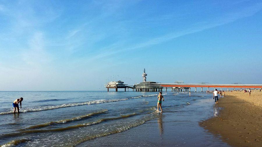Scheveningen Pier On Sea