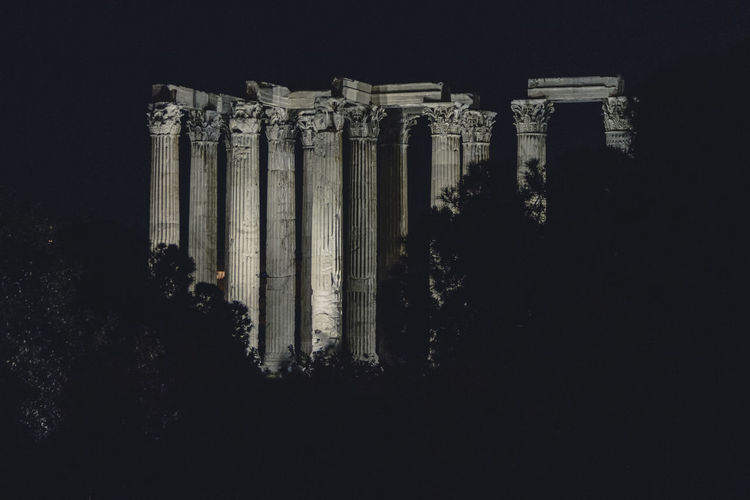Ancient Ancient Civilization Archaeology Architectural Column Architecture Building Exterior Built Structure City Colonnade Copy Space History Nature Night No People Old Ruin Religion Ruined Sky The Past Tourism Travel Travel Destinations