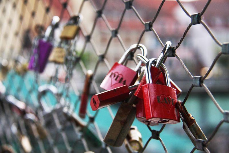 Graz Graz Austria Austria Padlock Security Love Lock Protection Lock Safety Hanging