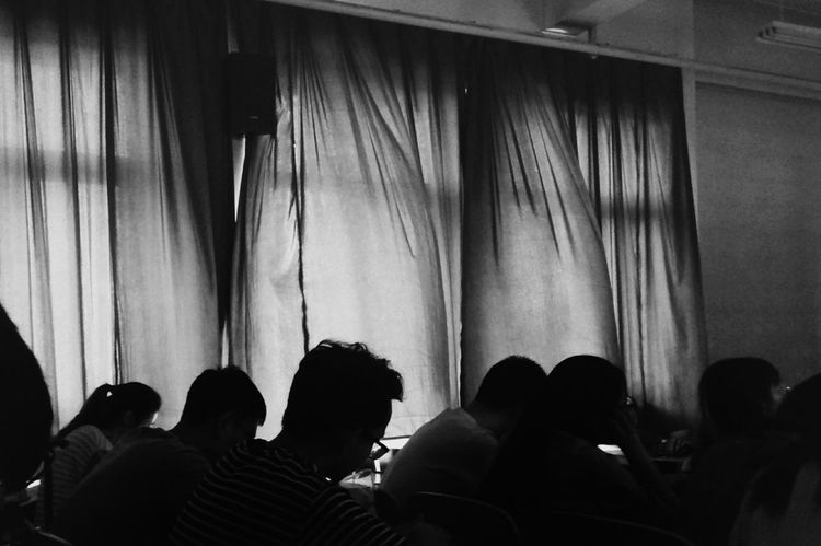 Large Group Of People Indoors  Adults Only People Togetherness Crowd Classmates University 华北电力大学 Blackandwhite Amazing View Capture The Moment From My Point Of View Light And Shadow Indoors  Sunlight University Life Peaceful Windy Day Curtain Dark