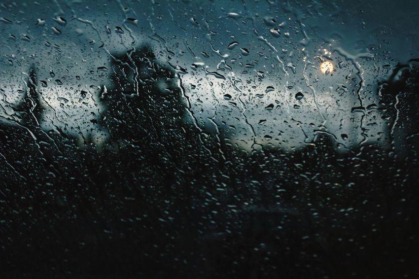 """Deluge"" (2018) No People Dark Skies Water Illuminated Backgrounds RainDrop Wet Window Full Frame Drop Rain Rainfall Rainy Season Weather Torrential Rain Windshield Water Drop Glass"