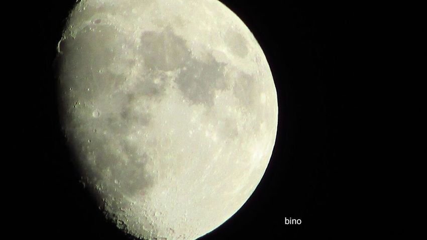 Last Night's Moon Surface Very Cold!!! Looking Up Close-up Cadillac Sky Pure Michigan