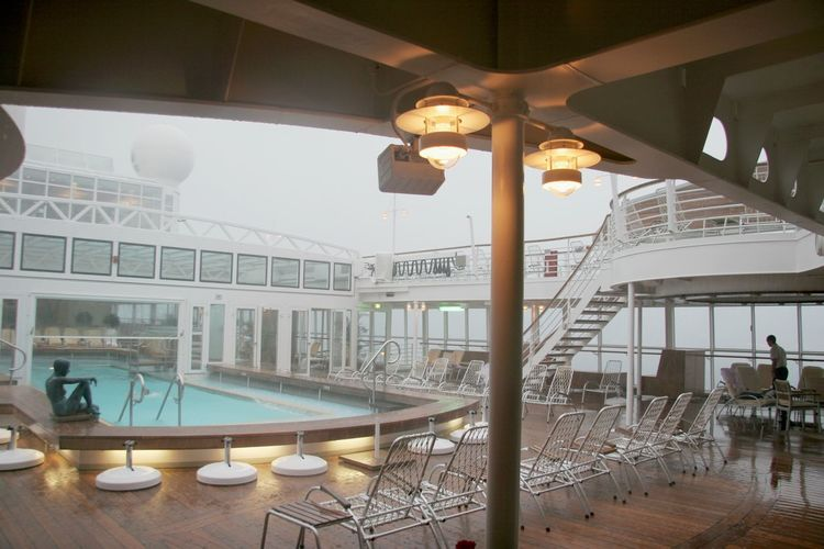 Ceiling Cruise Ship Day Illuminated Lighting Equipment Luxury No People Place Setting Pool Area Pool Deck Rainy Day