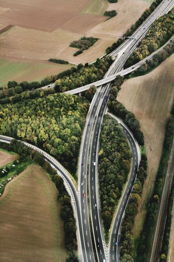 Helicopter View  Cologne Highway A3 Autobahn A 3 Germany Street Road Transportation Plant High Angle View Tree Landscape Nature Mode Of Transportation Environment Motion No People Aerial View Day City Growth Curve Outdoors Scenics - Nature Travel Multiple Lane Highway Overpass 17.62°