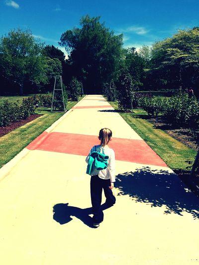 Palmerston North Nz Spring 2016 Daughter Enjoying Nature Rose Garden Beautiful Day Enjoying Life