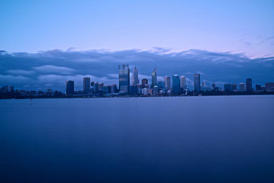 Simple shot Cityscape Perth Australia Riverside City Cloud - Sky Clouds Dusk Longexposure No People Outdoors Sky Sunset