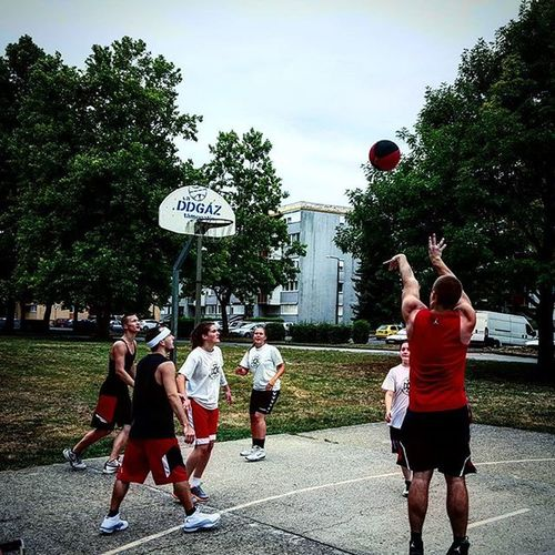 Basketball Streetball Hoop Jumpshot release followtrough jordanbrand girlsvsboys boyswon szigetvar