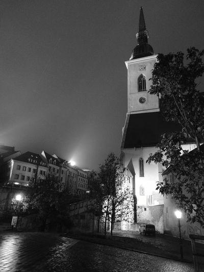 Architecture Night No People Place Of Worship Bratislava, Slovakia Bratislava City! Cathedral Black & White Monochrome EyeEm Best Shots - Black + White
